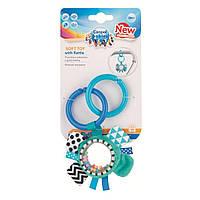 Canpol babies плюшева іграшка з брязкальцем 0+ Zig Zag синя стрічка