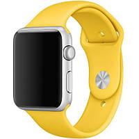 Ремешок Apple Watch Silicone 42/44mm Yellow (Желтый)