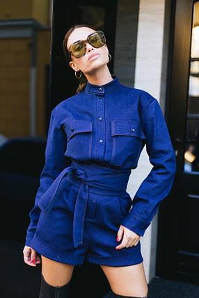 Комбинезон женский джинсовый AniTi 510, синий, фото 2