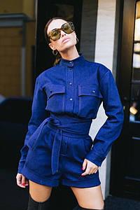 Комбинезон женский джинсовый AniTi 510, синий