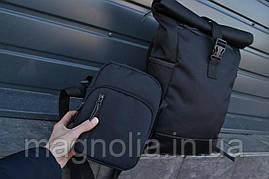 Рюкзак Roll Top + ПОДАРОК  Рюкзак чоловічий - жіночий / Рюкзак для Ноутбука / Рюкзак мужской черный