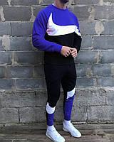 Найк Winter 2020 спортивний костюм мужской синий