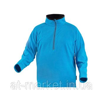 Толстовка флисовая на молнии 3/4, голубая, размер M HOEGERT EDER HT5K375-M