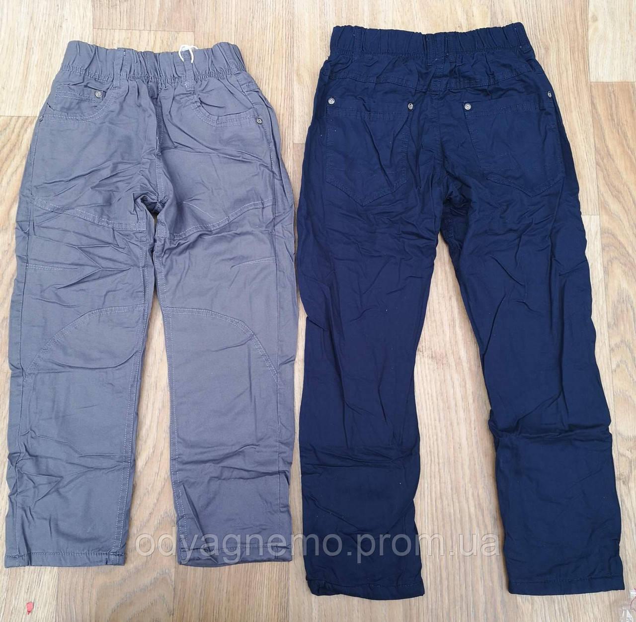 Котоновые брюки на флисе для мальчиков, 4-12 лет. Артикул: A007