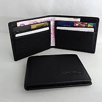 Зажим для денег и карт на магните -Натуральная кожа -H.T-22826- BLACK