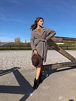 Женское модное базовое пальто со спущенными плечами