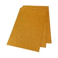 Фоамиран 2мм глиттерный 20х30 см оранжевый золото 1903