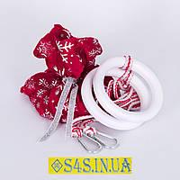 Подарок Кольца детские гимнастические, подвесные ДЕРЕВЯННЫЕ «ЭЛИТ», белый, с креплением и подарочной упаковкой, фото 1