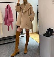 Женское укороченное пальто. Модель 8722, фото 2