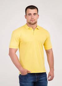 Мужская футболка Поло жёлтая