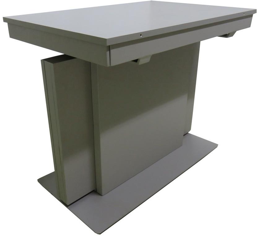 Стіл обідній трансформер МДФ сіро-бежевий DAOSUN RF 6301 DT