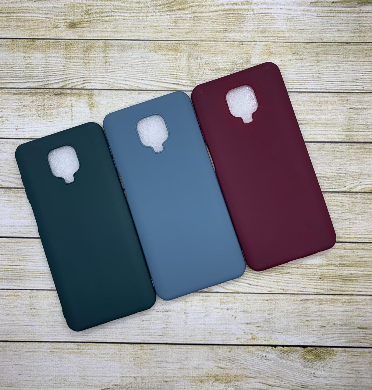 Чехол Xiaomi Redmi Note 9 Pro силиконовый цветной бампер