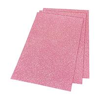 Фоамиран 2мм глиттерный 20х30 см светло розовый 1906