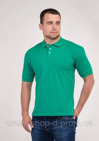Мужская футболка Поло зелёная