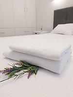 Махровое полотенце для лица 50х90 (20/2) см плотность 650 г/м2 100% хлопок белое
