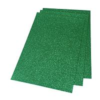 Фоамиран 2мм глиттерный 20х30 см темно зеленый 1923