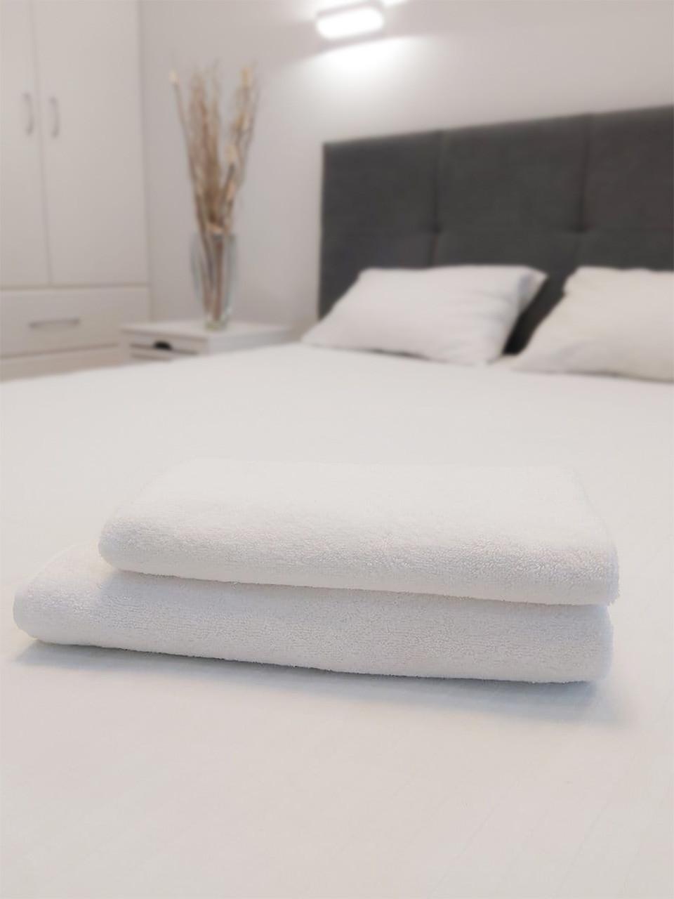 Махровое полотенце для сауны 100х150 см плотность 500 г/м2 100% влаговпитывающее белое