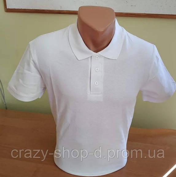 Мужская футболка Поло Белая
