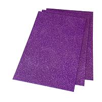Фоамиран 2мм глиттерный 20х30 см фиолетовый 1919