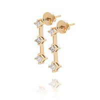 Золотые серьги с бриллиантами С12Л5№1