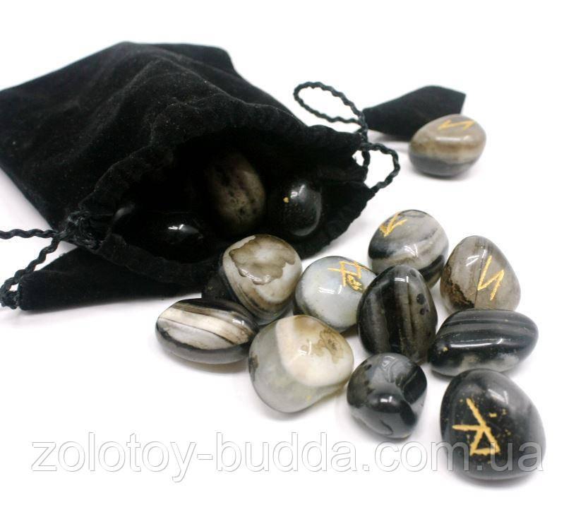Руны из натурального камня Агат