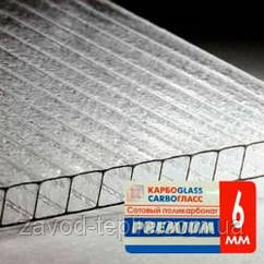 Поликарбонат сотовый 6 мм прозрачный, купить Украина для Теплиц