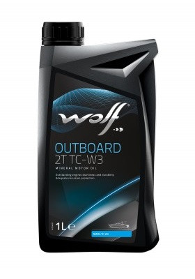 Масло для водной техники WOLF OUTBOARD 2T TC-W3, 1л