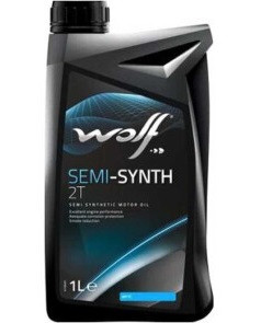 Мото масло WOLF SEMI-SYNTH 2T, 1л