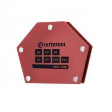Держатель магнитный для сварки трапеция, 30°, 45°, 60°, 75°, 90°, 135°, 22 кг, 115×90×17 мм INTERTOOL MW-0002