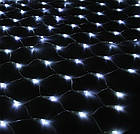 Гирлянда сетка светодиодная 240 LED, Белая, прозрачный провод, 3х0,7м., фото 3