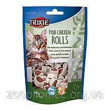 Ласощі для кішок Trixie Premio Rolls, курка/сайда, 50г