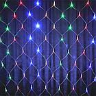 Гирлянда сетка светодиодная 240 LED, Мультицветная, прозрачный провод, 3х0,7м., фото 2
