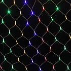 Гирлянда сетка светодиодная 240 LED, Мультицветная, прозрачный провод, 3х0,7м., фото 3