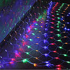 Гирлянда сетка светодиодная 240 LED, Мультицветная, прозрачный провод, 3х0,7м., фото 5