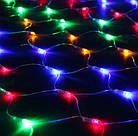 Гирлянда сетка светодиодная 240 LED, Мультицветная, прозрачный провод, 3х0,7м., фото 6