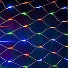 Гирлянда сетка светодиодная 240 LED, Мультицветная, прозрачный провод, 3х0,7м., фото 7