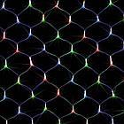 Гирлянда сетка светодиодная 240 LED, Мультицветная, прозрачный провод, 3х0,7м., фото 8