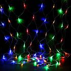 Гирлянда сетка светодиодная 240 LED, Мультицветная, прозрачный провод, 3х0,7м., фото 9