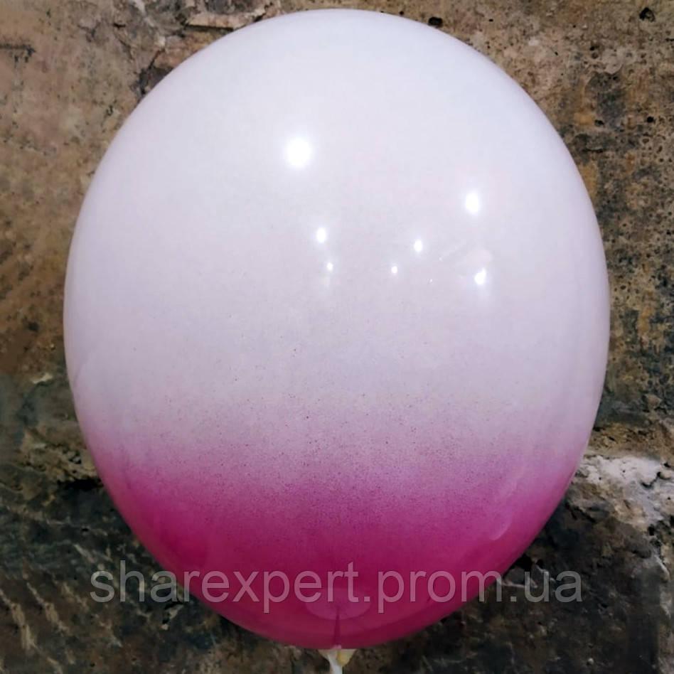 Пурпурно/Белые латексные шары ОМБРЕ