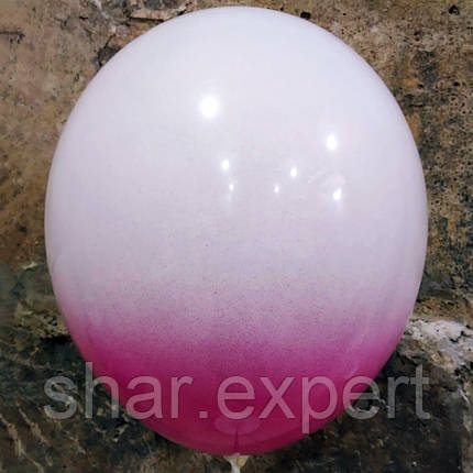 Пурпурно/Белые латексные шары ОМБРЕ, фото 2