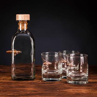 Набір  з 3 склянок для віскі і графіном, фото 2