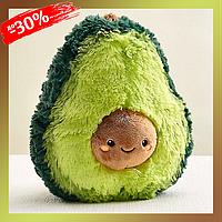 Мягкая игрушка-антистресс Плюшевый Авокадо 37 см Подушка мягкая Плюшевая