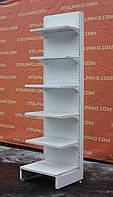 Торговый пристенный (односторонний) стеллаж «Регалс» 230х60 см., на 6 полок, Б/у, фото 1