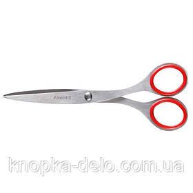 Ножницы 6001-А металлические Exakt, 16,5 см,Цвет красный