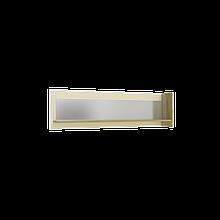 Поличка навісна Інтарсіо Fusion I з дзеркалом 1402х400 мм Дуб скельний + Слонова кістка (FUSION_I)