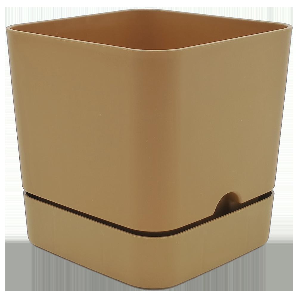 Горшок для цветов квадратный Begonya 2,3 л коричневый