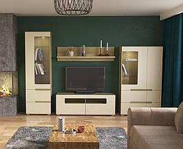 Комплект меблів у вітальню Intarsio Fusion Дуб скельний + Слонова кістка