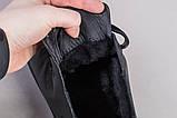 Кеди чоловічі шкіряні чорного кольору зимові, фото 5