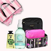 Подарочный набор от Victoria's Secret (косметический кейс + спрей + крем для рук )