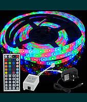 Лента светодиодная RGB 3528 5 метров+ контроллер + пульт 44 кнопки+ БП